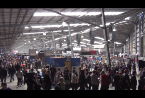 The main hall of PAX Australia, where a majority of the scenes were shot